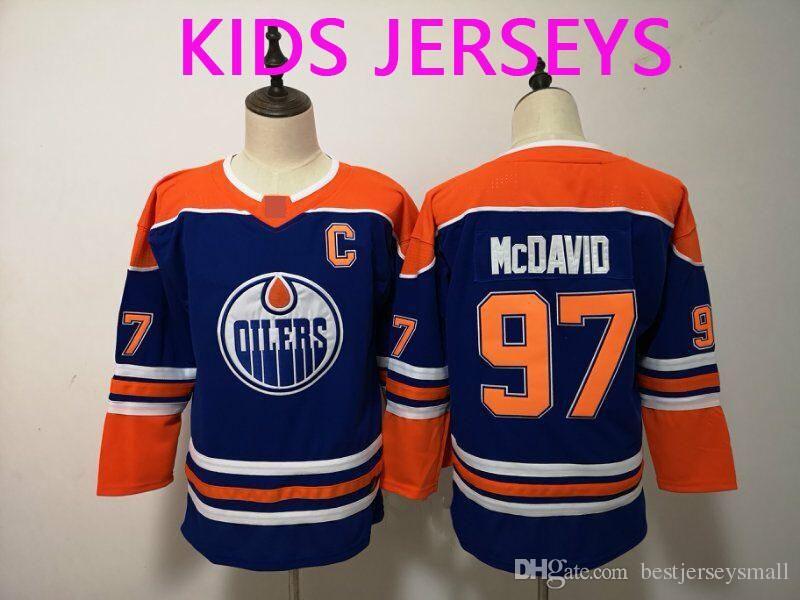 watch f8740 7c8e1 Kids Youth 2019 New Edmonton Oiler #27 Milan Lucic 29 Leon Draisait 33 Cam  Talbot 93 Ryan Nugent-Hopkins 99 Gretzky 97 Connor McDavid Jersey