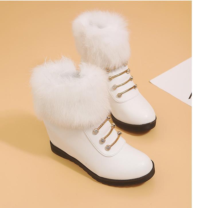 bottes plate-forme des femmes coins bottines pour femmes bottes neige chaussures hiver femmes Botas Plataforma mujer 2018