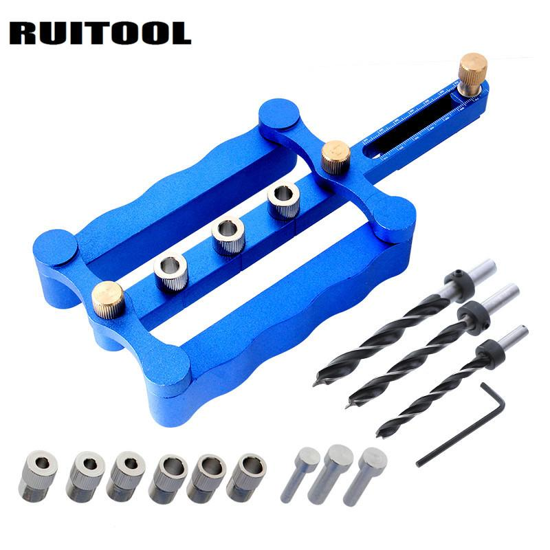 Self Centering Woodworking Hole Drilling Jig Tools Kit 6 8 10mm Hole