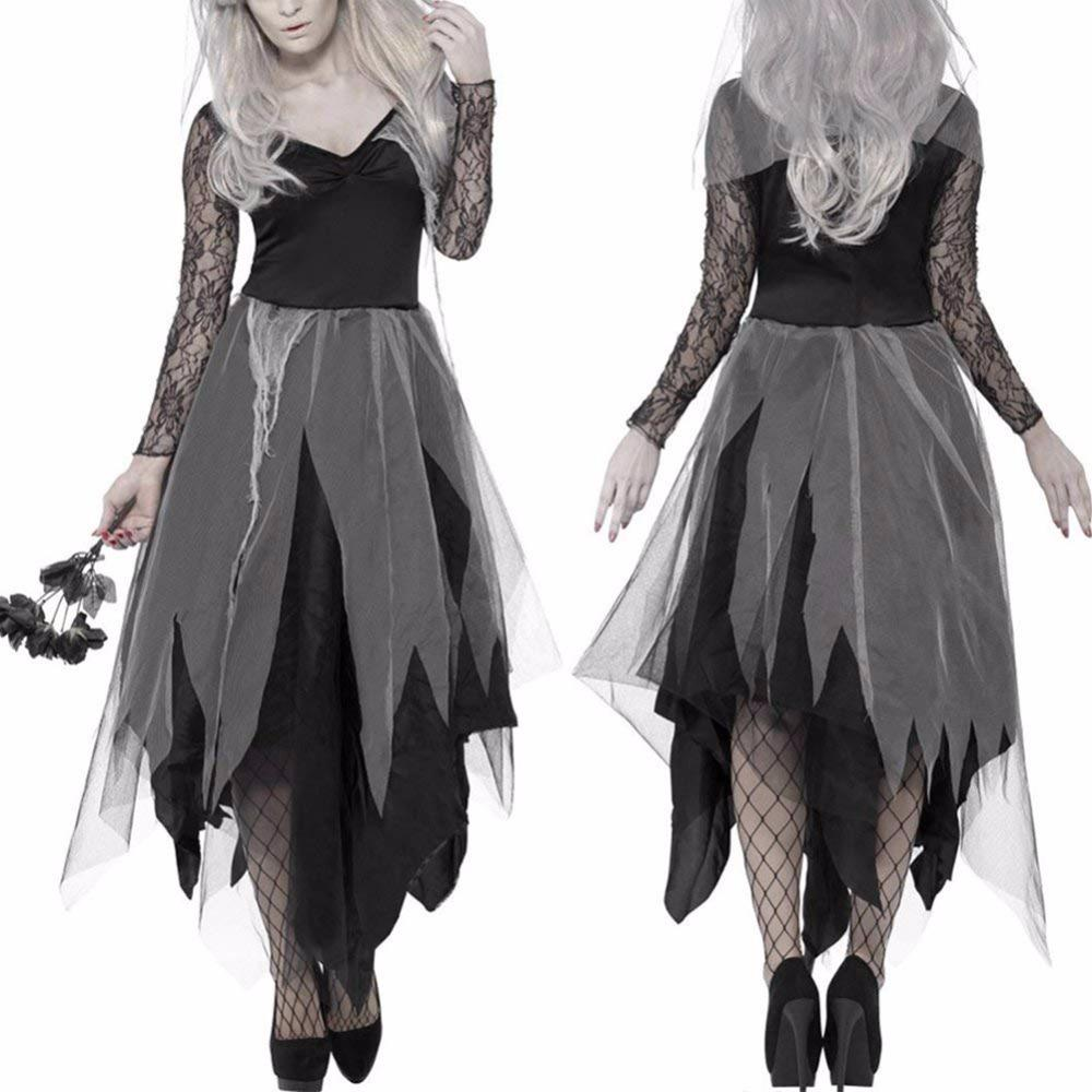 Halloween Group Costumes Scary.Scary Costumes Women For Vampire Isfraz Halloween Clothes Saints Day Fantasia Dress Witch Costume Festival Dia De Los Muertos