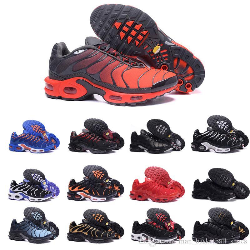11ee1cc6beb Compre Nike Air Max 90 Designer De Moda Sapatos Tn Preto Branco Vermelho  Laranja TN Sneakers Para Homens Mulheres Clássico Dos Homens Tênis Correndo  ...