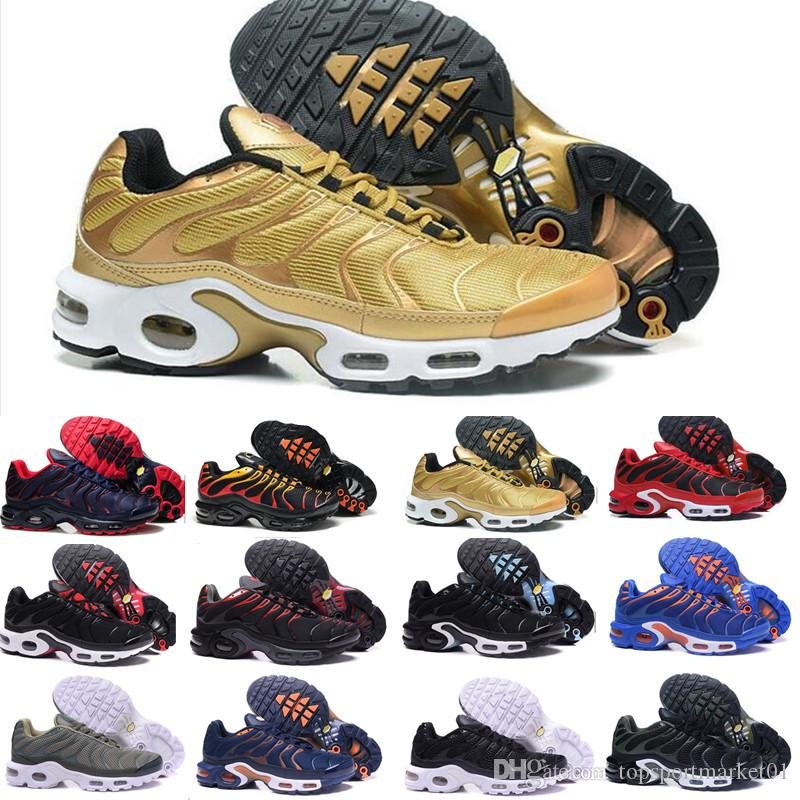 best sneakers 0334c f58c4 2018 Original Nike Air airmax TN Mens E Das Mulheres Sapatos casuais Plus  TN Ultra Sapatos Esportes TN Requin Sneakers calçados casuais 36-46