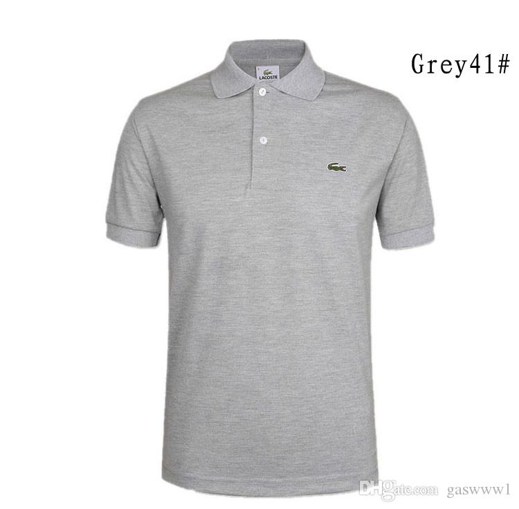 06fdafff171 2019 Fashion Solid Color Polo Shirt Men Camisa Polo Masculina 2018 Brand  New Slim Fit Short Sleeve Polo Shirts Casual Polos Hombre From Gaswww1