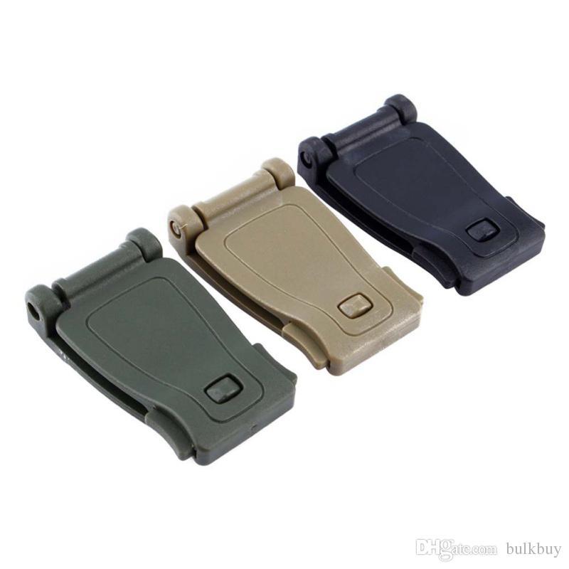 Boucle kit de brousse Connecter le lien de sangle Sac à dos tactique Sac à sangle webdom Clip de ceinture fermoir Outils de randonnée de camp en plein air