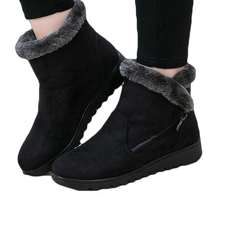 0fc329d5069 Compre Dropshipping Ankle Boots Mulheres Nova Moda À Prova D  Água Cunha  Plataforma Inverno Quente Botas De Neve Sapatos Para O Sexo Feminino De  Juiccy