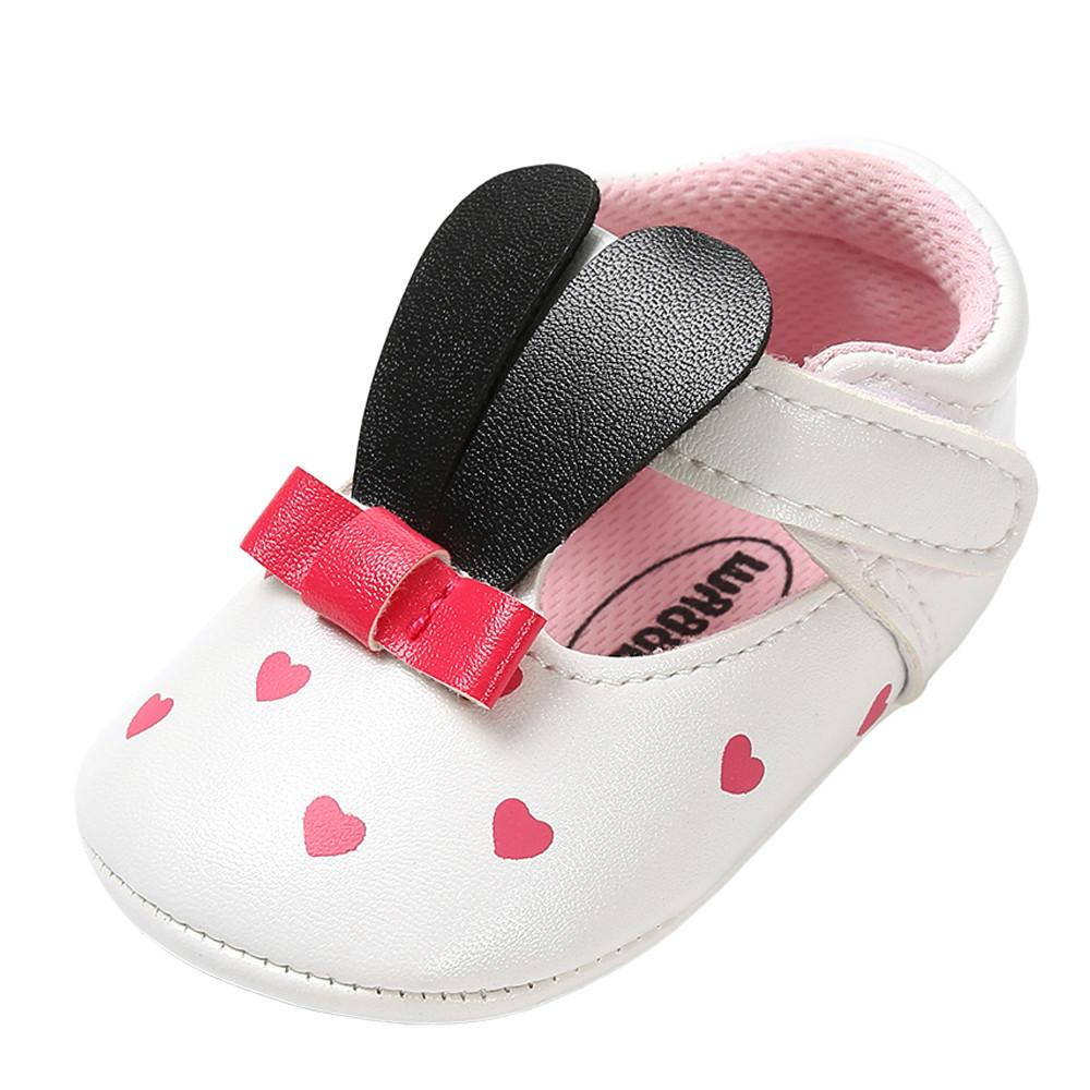 Baby Girl Boy Shoes Kids Shoes Brand New Baby Girl PU Upper Anti-slip Design Rabbit Ears Fashion Toddler First Walkers Kid