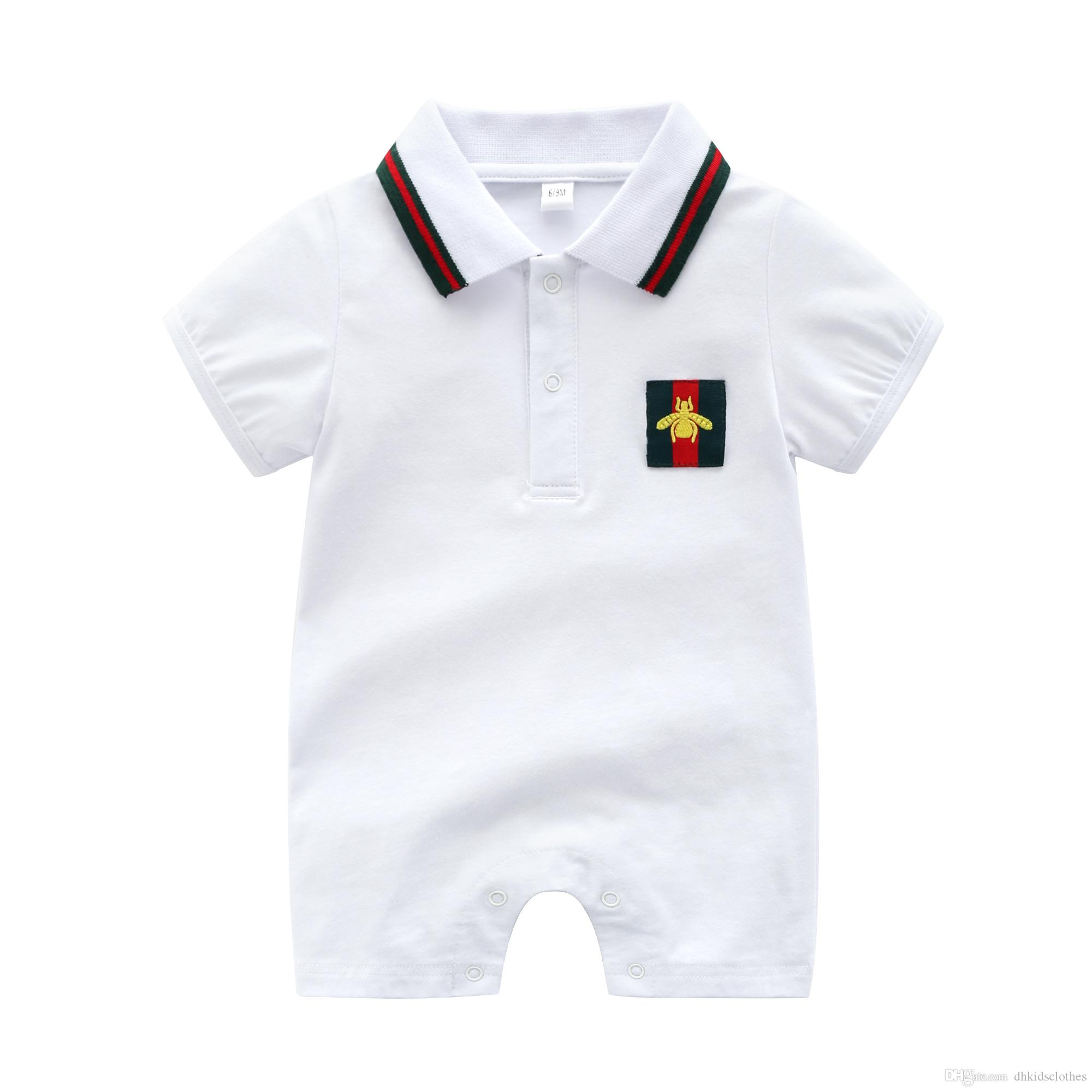 Baby Boy Clothes Newborn Baby Romper Summer Cotton Short Sleeve Girl ...