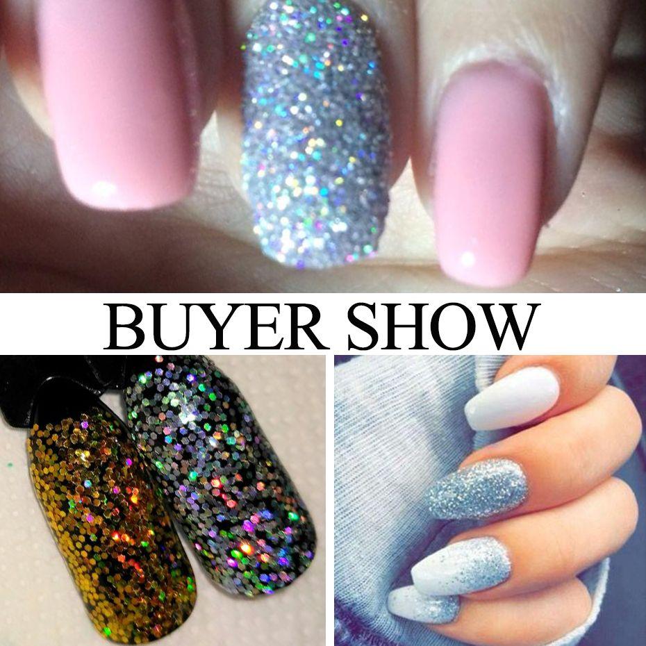 Art Glitter Full Beauty Mixed 12 Typesets Nail Sequins Powder Gold