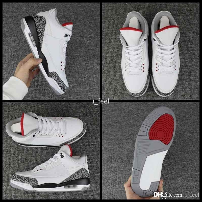 best service 60aeb eb7cc Compre 2018 Nuevo Air Jordan Retro 3 III JTH NRG 3s Justin Timberlake Fire  Red White Cement Zapatillas De Baloncesto Para Hombre Zapatillas De Deporte  ...