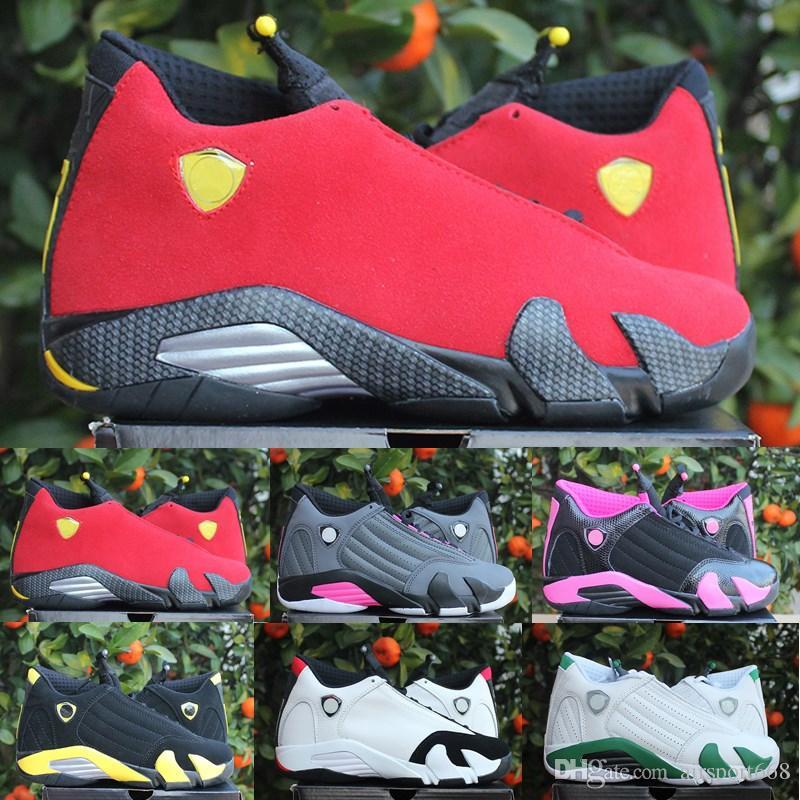 on sale 0fa13 e866a Compre 2019 De Alta Calidad 14 14s Negro Toe Fusion Varsity Red Suede  Thunder Hombres Zapatos De Baloncesto Cool Grey DMP Candy Cane Sneakers A   71.07 Del ...