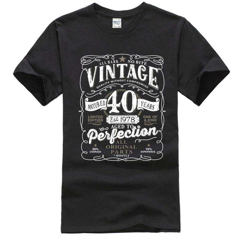 24856b24c 40th Birthday Gift T Shirt Made In 1978 Original Parts 40 Years Mens Ladies  Top Online with $13.39/Piece on Allthingsgood's Store | DHgate.com