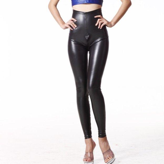 Girls in tight latex pants
