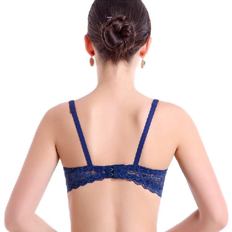 Fashion Ladies Female Push Up Bra Embroidery Lace Bras Sexy Underwear For Women Padded Sheer Bra