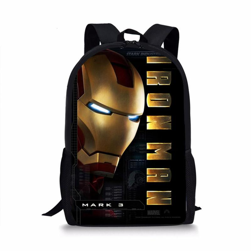 Cool Iron Man Backpack School Shoulder Bag Backpack For Teenager Student  Boys Men S Book Bag Boys Backpacks Laptop Rucksack From Tinypari 8e272dd226824