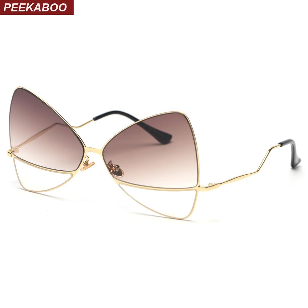 138c59d5f9 Wholesale Oversized Butterfly Sunglasses Women 2018 Metal Frame Vintage Cat  Eye Sun Glasses Accessories Brown Black Pink Uv400 Online with  26.2 Piece  on ...