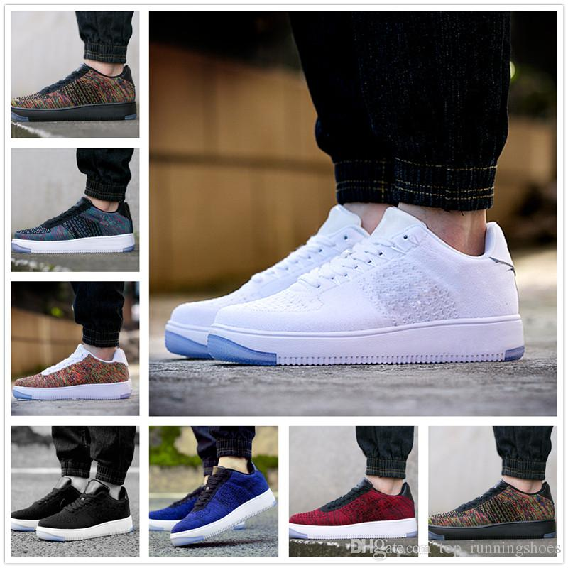 Acheter Nike Air Force One 1 Flyknit One Af1 Flyknit Low Nouvelle Ligne De  Mouche Style Hommes Femmes FORCe Haute Basse Amant Chaussures De Planche À  ... 441507c756c2
