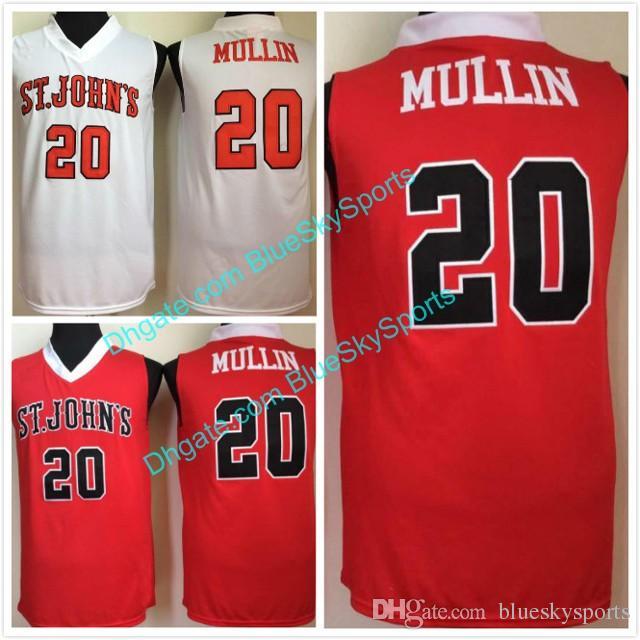 3d44c409c71 Mens Mullinn High Quality White Red St John's University Basketball ...