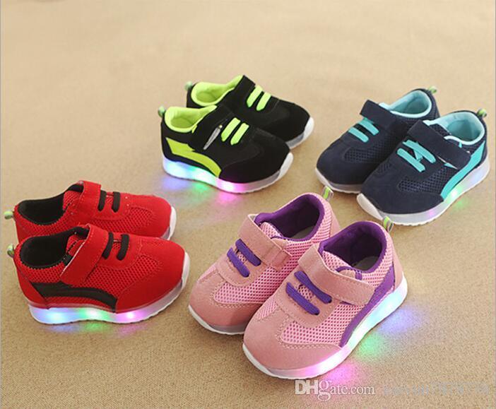 Baby Beleuchtung Für Mädchen Led Sport Weichen Schuhe Und Jungen ZPiOkuX
