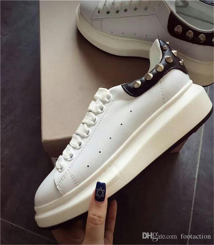 6ebecce45269 2018 Luxury Designer Men Casual Shoes Best High Quality Mens Womens Fashion Sneakers  Top Layer Leather Shoes Athletic Fitness Casual Shoes Clogs For Women ...