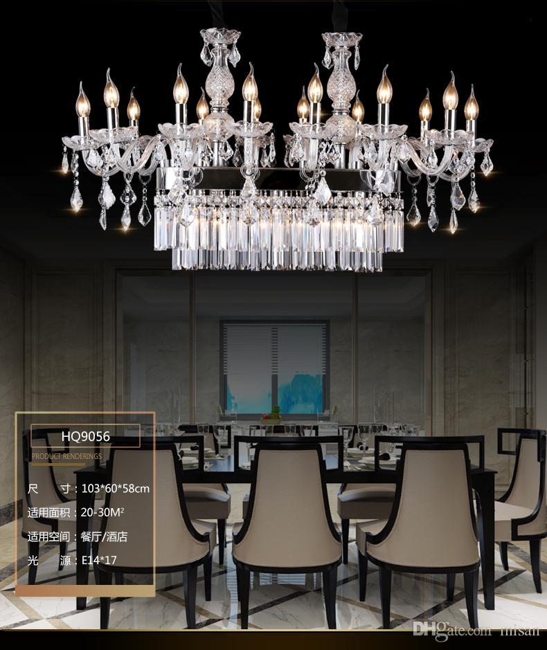 Modern Design K Crystal Chandelier Hotel Restaurant Dinging Room - Table top lamps for restaurants