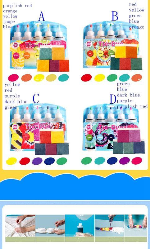 3f41c20adebe 2019 Set Tulip One Step Tie Dye White Shirt Kits Neon Rainbow Pattern Craft  Party LJJM56 From B2b life