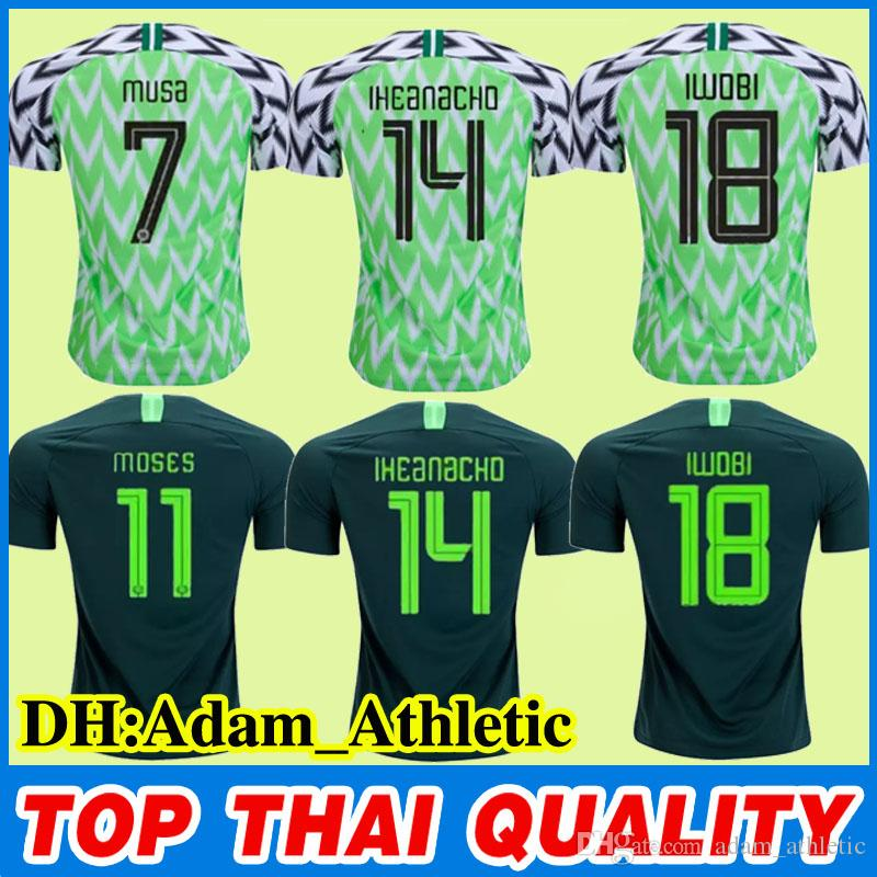 2019 2018 World Cup Nigerian Green Home Soccer Jersey MOSES IWOBI MIKEL  Football Shirt MUSA IHEANACHO Football Jerseys Nigerian Shirts Uniform From  ... 4302dcfa8
