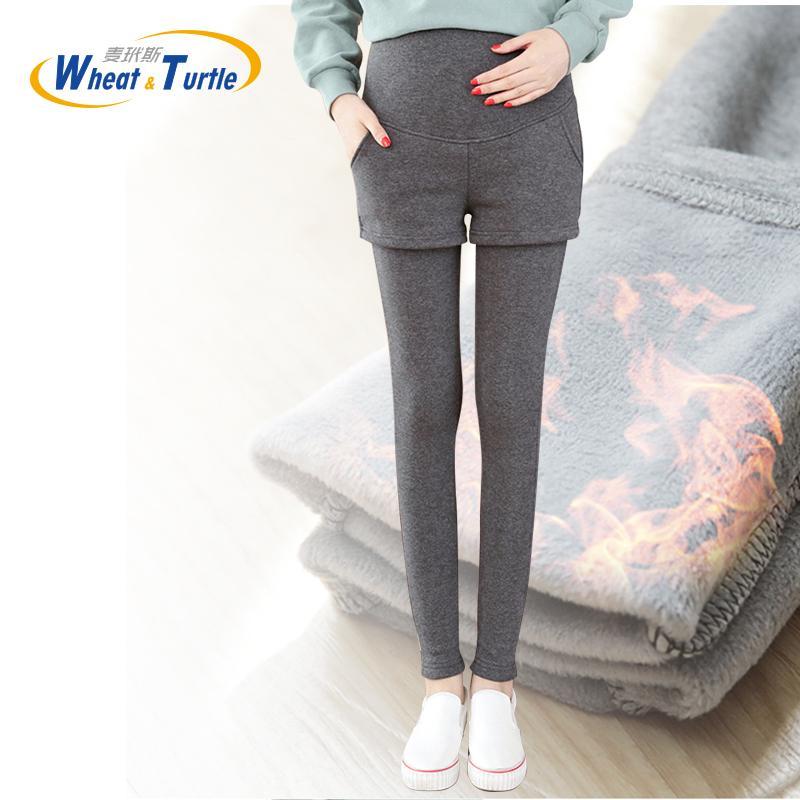dad3b6979ec205 2019 Super Warm Winter Legging Pants For Pregnant Women Thicken Velvet  Maternity Leggings Winter Clothing For Pregnancy Pencil Pants From Cassial,  ...