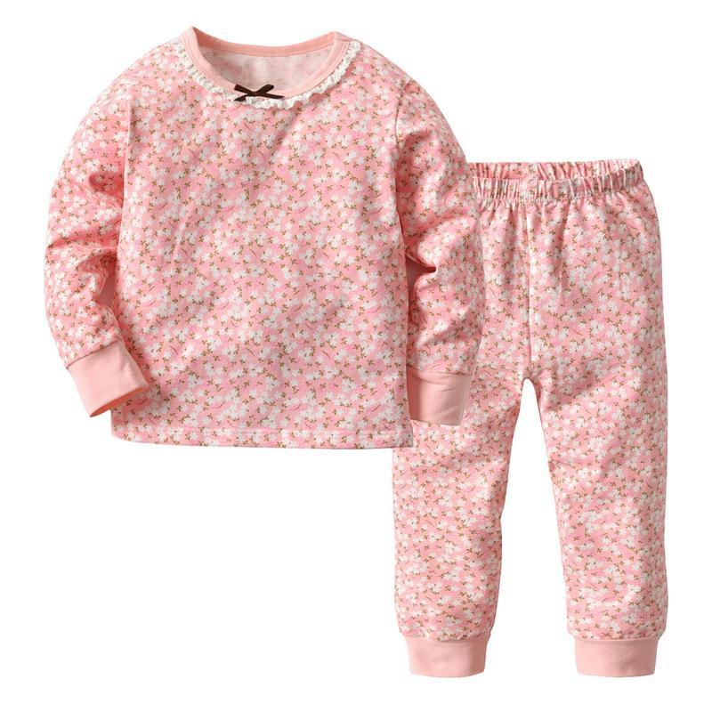 7e890e94f Kids Baby Household Clothing 2018 Girls Printing Long Sleeve Pajamas ...