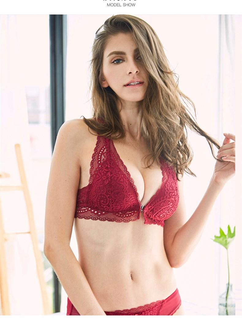 c9bfebbe512a9 2019 See Orange Front Closure France Lace Bra 2018 Autumn Push Up Bra Sexy  Underwear For Women Bralette Lingerie Y Line Straps SO5412 From  Clothesg119
