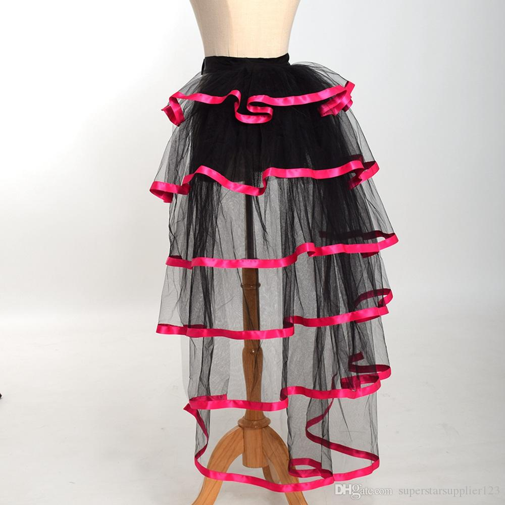 139e57cda Women Victorian Steampunk Black Bustle Women Tutu Belt Lace Underskirt NEW  High Qualitu Fast Shipment ...