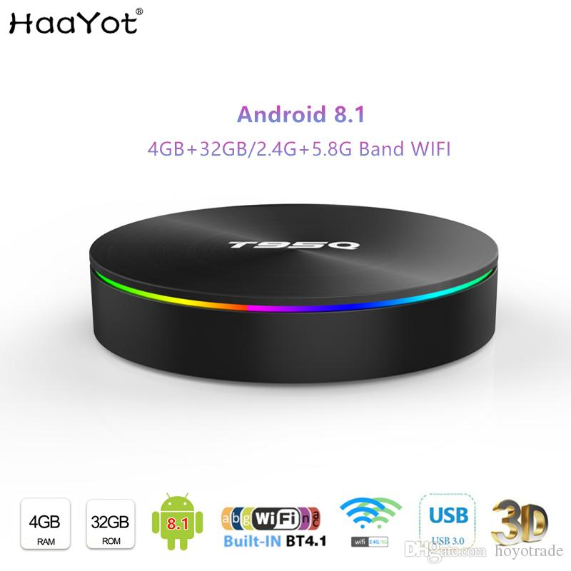 2019 New T95Q Tvbox Android 8 1 TV BOX 4GB 32GB Amlogic S905X2 Quad Core  2 4 5 8GHz Dual WiFi Bluetooth Media Player Smartbox USB3 0 Box tv