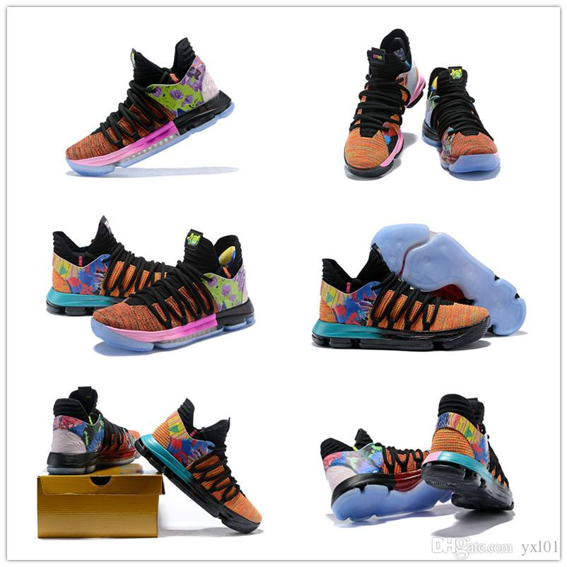 2c4485c3e5b1 2018 New Arrival What The KD X 10s Ice Blue Pink Green Sports Basketball  Shoes 10s AAA+ Quality Kevin Durant 10 EP Athletic Sneakers US 7 12 Cheap  Shoes 4e ...
