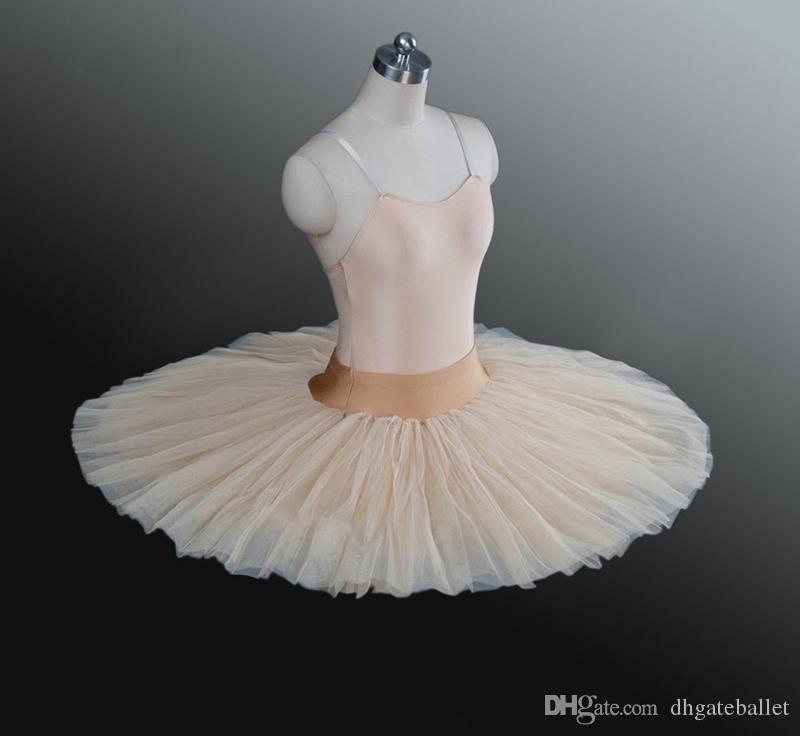 1e422aa9eb5a78 Beige Jupe Tutu De Répétition De Ballet Enfants Noir Ballet Demi Tutu Blanc  Plateau De Répétition de Ballet Professionnel Pratique Crêpe Tutus ...