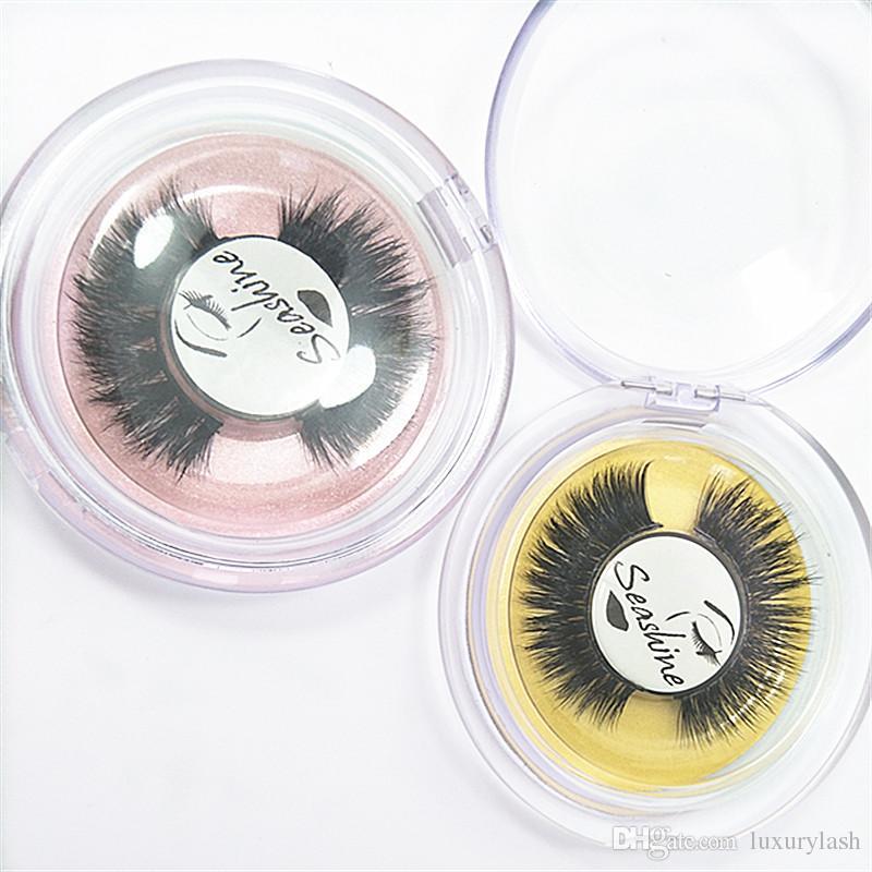 Seashine 100 Handmade 3d Mink Natural False Eyelash Private Label