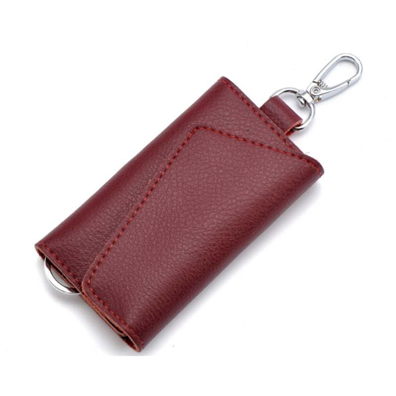 Multifunction Cow Leather Business Card Holder Organizer Housekeeper