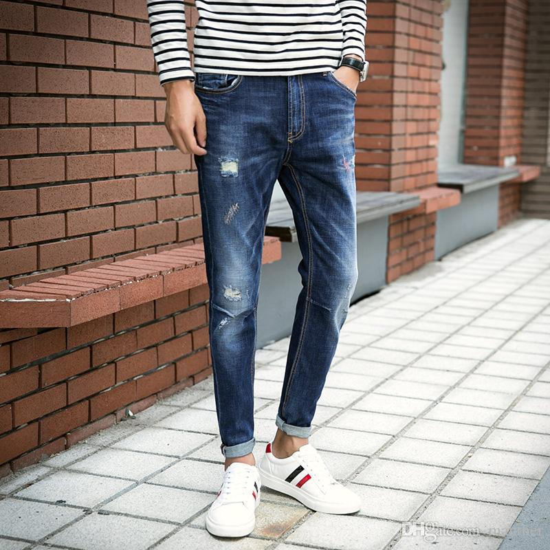09e731040ee Wholesale- New Arrival Fashion Men s Jeans Water-washed Straight ...