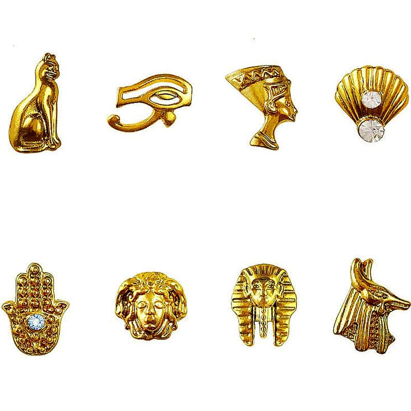 Beauty Egyptian Style Gold Nail Charms 3D Metal Nail Art Decoration ...