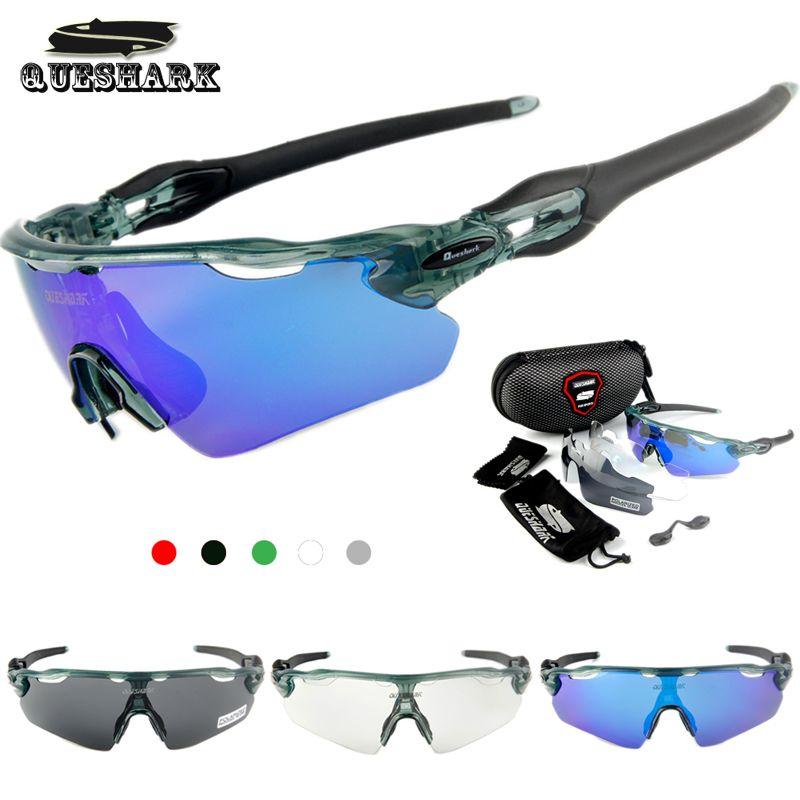 4ccd5a4944a78 Compre Queshark 3 Lente Polarizada Ciclismo Óculos De Sol MTB Óculos De  Bicicleta De Estrada Óculos De Corrida De Bicicleta Tour De France  Equitação ...