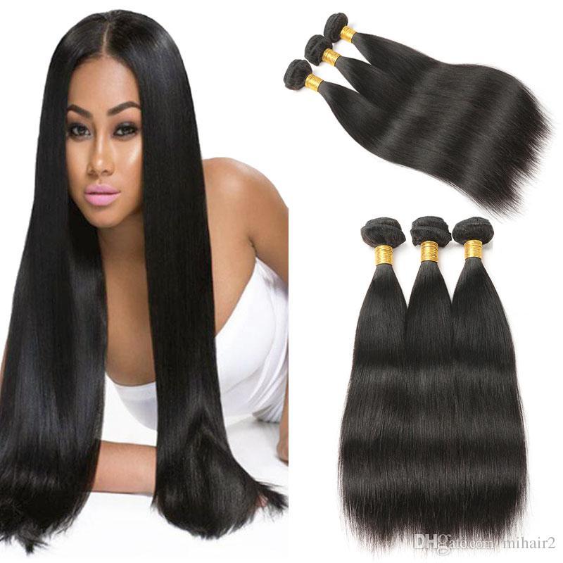 8a Brazilian Human Hair Weaves 3 Bundles 100 Straight Human Hair