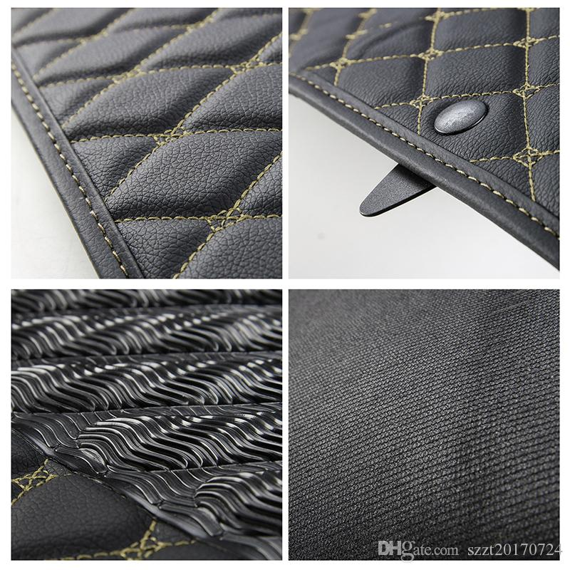Car Ensemble complet Tapis de sol en cuir en cuir Foodpad 2 Couleur Pour Chevrolet Camaro 2017+ Auto Intérieur Accessoires