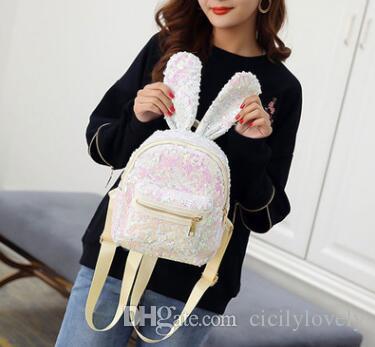 Newest Backpacks Female Sequins Shoulder Bag PU Leather Travel Backpack Women Fashion Shoulder Messenger Bags Cute Small Bag Back Pack