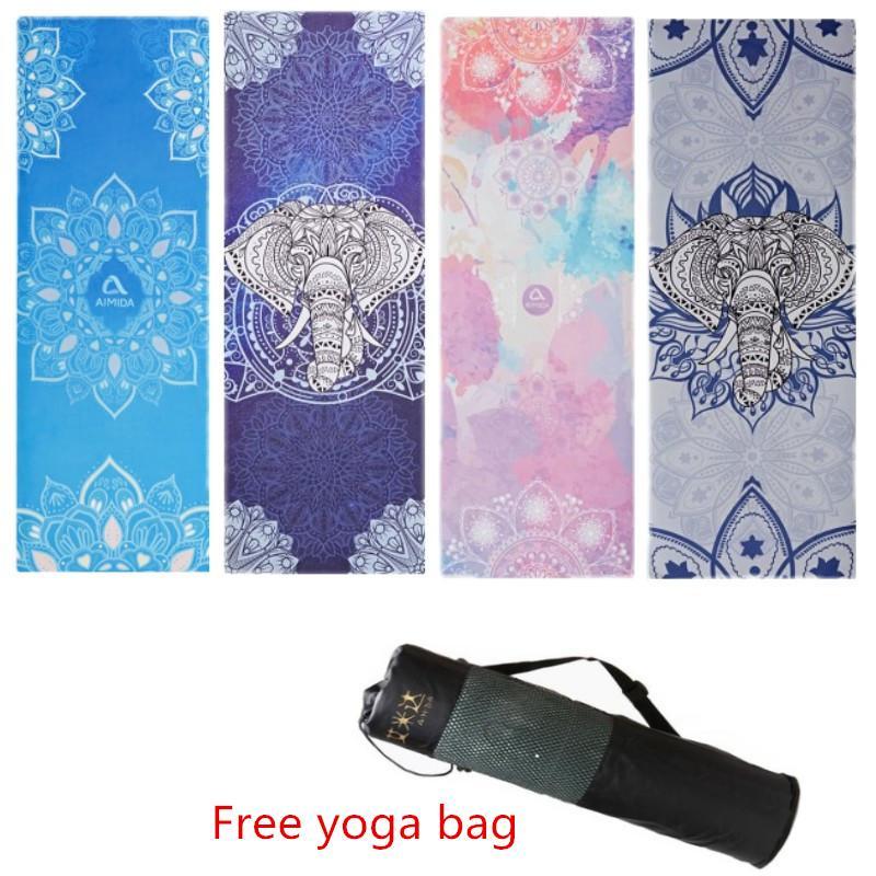Acheter Tapis De Yoga Imprime En Daim Tapis De Fitness Fitness Yoga
