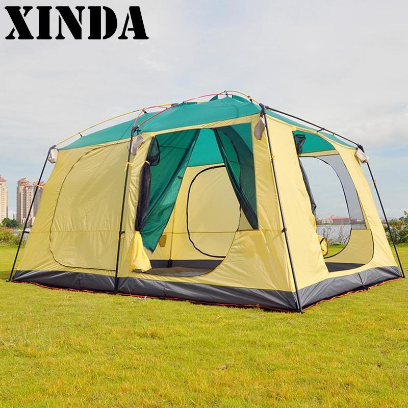 New C&ing Tent Ultralight Large Space Fire Resistant 5 8 Person Tent Waterproof 4 Season Outdoor Family C&ing ZRT8708 Family C&ing Tents Hiking Tents ... & New Camping Tent Ultralight Large Space Fire Resistant 5 8 Person ...