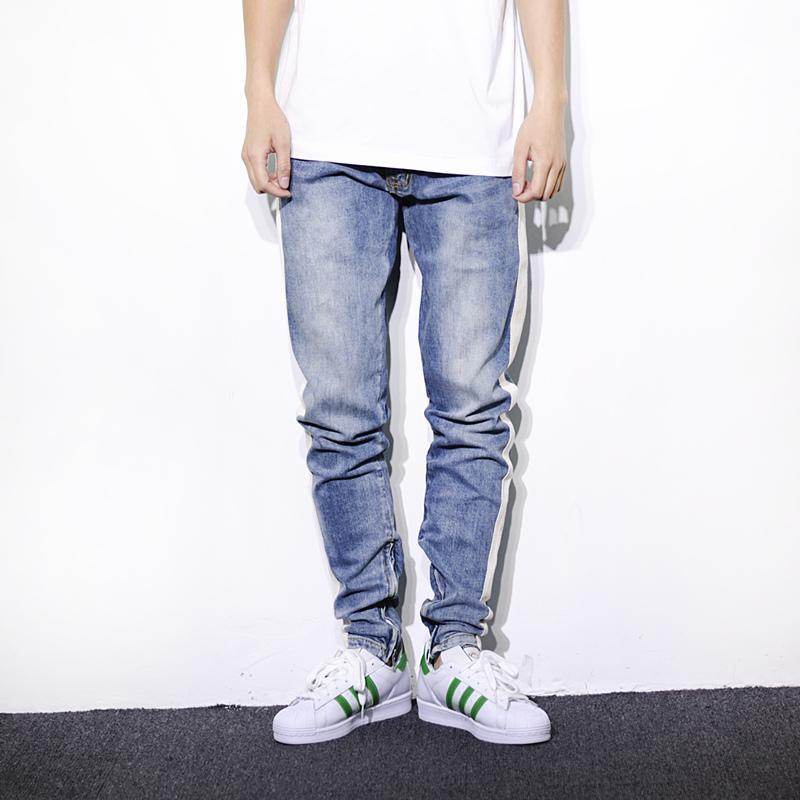 9ed1ce2daa024 Compre 2018 Hombres Moda Pantalones Largos Hip Hop Streetwear Kanye West  Miedo De Dios Sueltos Justin Bieber Lápiz Pantalones Joggers Jeans De  Mezclilla A ...