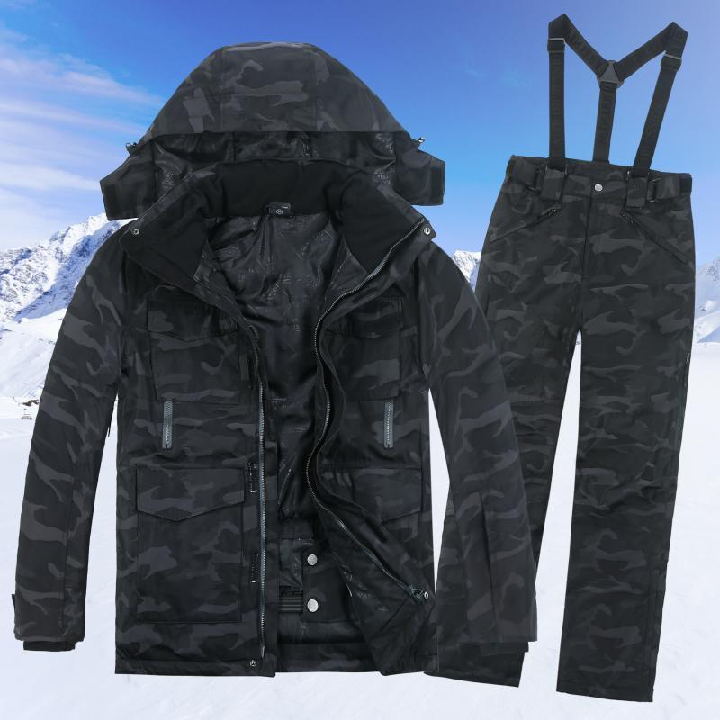 Herren Winter Sets Winddicht Single Großhandel Paar Ski Skianzug 80mwnN