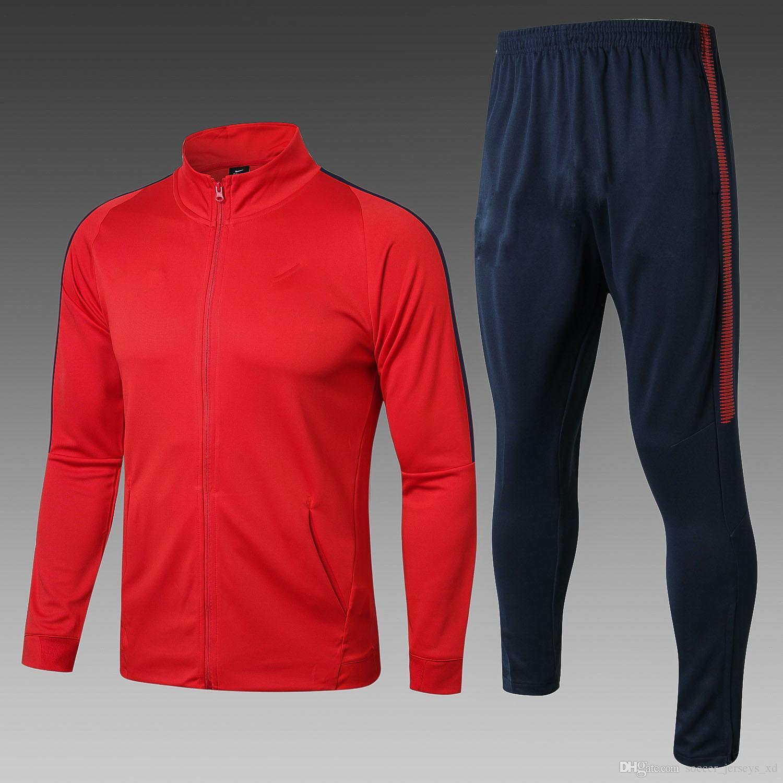 53428207f TOP Quality Soccer Tracksuit Set Jacket Zipper Tracksuits 17 18 ...