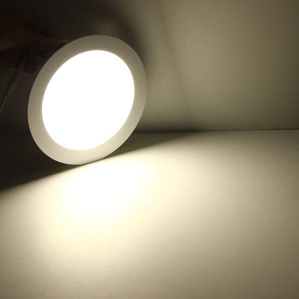 LED Downlight Dimmable 3W 4W 6W 9W 12W 15W 25W ronde ultra-mince SMD 2835 Panneau de plafond de pilote de puissance s'allume blanc chaud froid