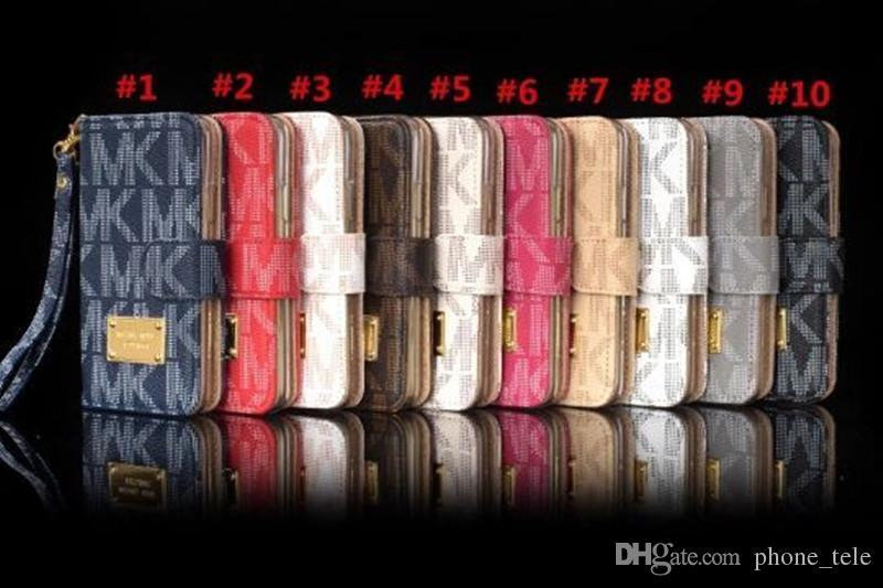Funda de cuero con tapa de lujo para el iphone x xs máximo 7 8 6 6s más Estuches con ranura para tarjeta con soporte de cordón Funda para Samsung s7 s8 s9 nota 9 8