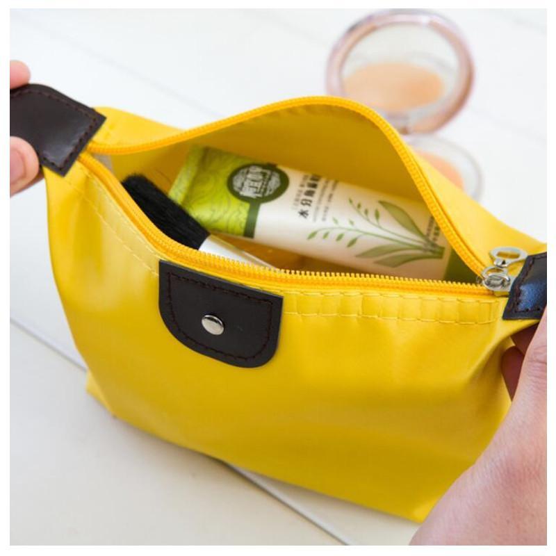 Top-Qualität Dame MakeUp Beutel Wasserdichte Kosmetiktasche Kupplung Pflege Reisekit beiläufige kleine Geldbeutel-Süßigkeit 10 Farben