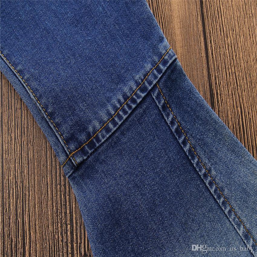 Kinder Mädchen Denim Hosen Kleinkind Flare Pants Baby Mädchen Schlaghosen Frühling Herbst Wide Leg Jeans Hosen